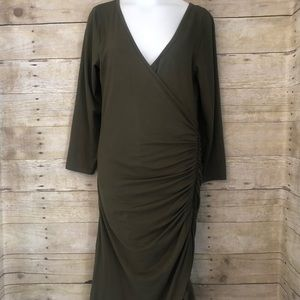 Derek Heart olive green dress side zipper